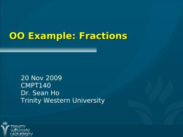 OO Example: Fractions