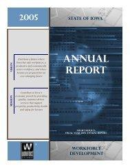 Year 2005 Annual Report - Iowa Workforce Development