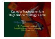 Cannula Tracheostomia e Deglutizione - Azienda USL di Reggio ...