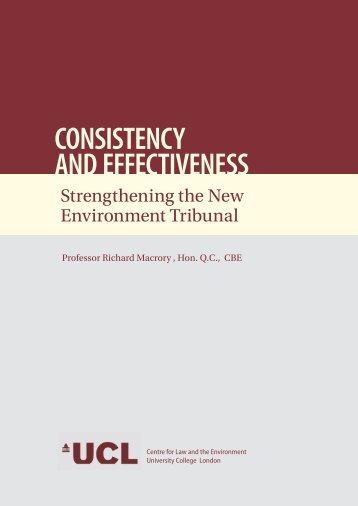 Professor Macrory's report on Strengthening the new ... - UKELA