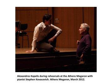Alexandros Kapelis during rehearsals at the ... - Conciertos Daniel