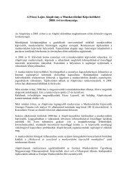 A Főcze Lajos Alapítvány a Munkavédelmi Képviselőkért 2008. évi ...