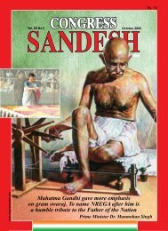 october - Congress Sandesh