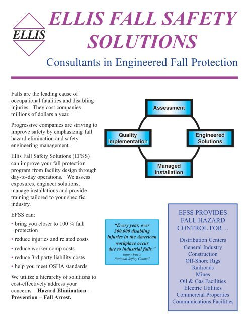 EFSS Brochure - Ellis Fall Safety Solutions