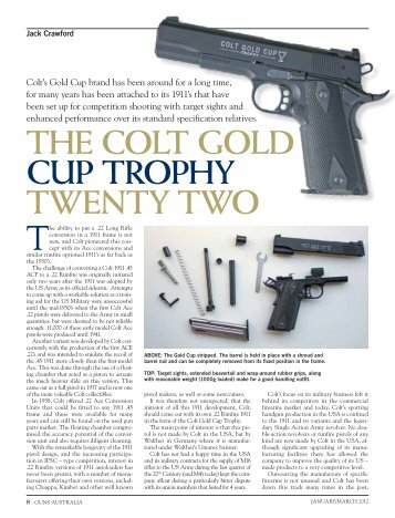 The Colt Gold Cup Trophy Twenty Two - Frontier Arms