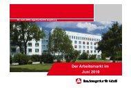 Arbeitsmarktpräsentation Juni 2010 - B4B Schwaben