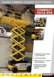 Plate-formes à ciseaux électriques Compact 10/12 RTE - sotradies