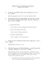 Öffentliches Verfahrensverzeichnis gemäß § 4g II ... - Jungmediziner