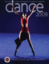 college of visual arts, theatre & dance the florida state university ...