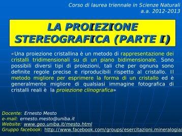 la proiezione stereografica (parte i)