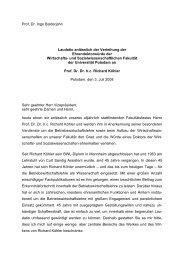 Prof. Dr. Ingo Balderjahn Laudatio anlässlich der Verleihung der ...