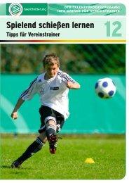 Spielend schießen lernen - REGIOfussball.ch