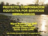 proyecto: compensacion equitativa por servicios hidrologicos