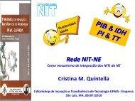 Rede NIT Rede NIT - Pró-Reitoria de Pesquisa e Pós-Graduação ...