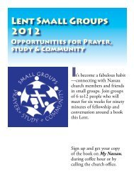 Lent Small Groups 2012 - Nassau Presbyterian Church