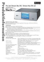Pro-Ject Stream Box DS / Stream Box DS net - MW-AUDIO