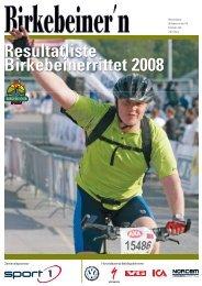 Resultatliste Birkebeinerrittet 2008 - Resultatservice