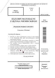 egzamin maturalny z języka niemieckiego poziom ... - Sqlmedia.pl