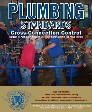 Cross-Connection Control - American Society of Sanitary Engineering