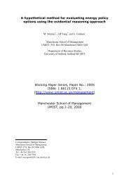 A hypothetical method for evaluating energy policy options using the ...