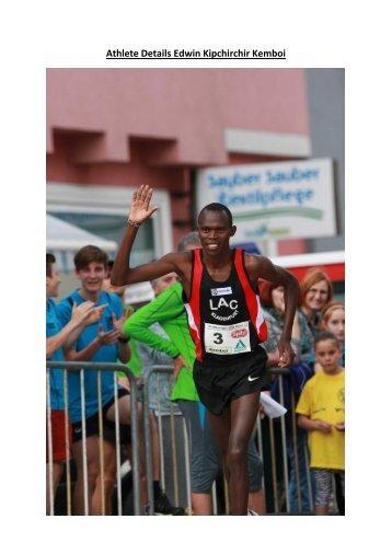 Athlete Details Edwin Kipchirchir Kemboi