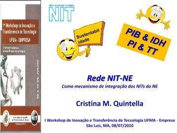 Rede NIT-NE 1 - Pró-Reitoria de Pesquisa e Pós-Graduação - Ufma