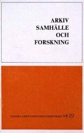 AR.KIV SAMHÄLLE · OCH FORSKNING - Visa filer