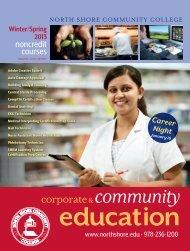 Winter/Spring 2013 - Community Education - North Shore ...