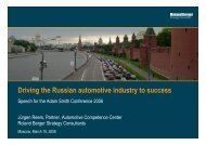 Driving the Russian automotive industry to success - Roland Berger ...