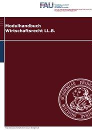 Modulhandbuch Wirtschaftsrecht LL.B. - Studiengang ...