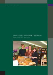 small business development corporation annual report 2005/2006