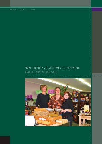 small business development corporation annual report 2005/2006