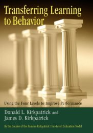 Transferring Learning to Behavior - Berrett-Koehler Publishers