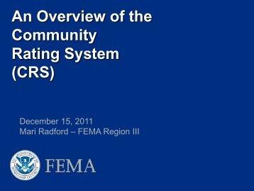 CRS Presentation - Flood Risk Management Program