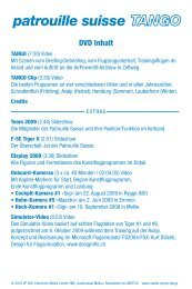 Patrouille Suisse TANGO - Booklet (d/e/f/i)