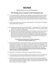 COLT RULES