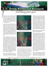 Fire histories from space - Rainforest Cooperative Research Centre
