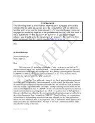 Separation Agreement - CR Advisors