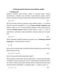 6. Absorpcia gama žiarenia a jej praktické využitie