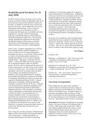 Orchid Research Newsletter No. 54 (July 2009) - Royal Botanic ...