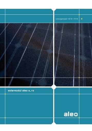 solarmodul aleo s_73 - Lech Solar