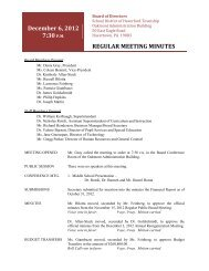Regular Meeting Minutes - Haverford Township School District