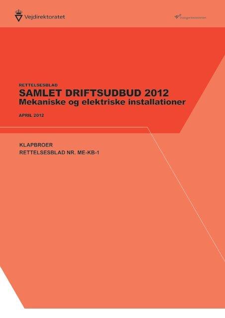 Rettelsesblad nr ME-KB-1.pdf - vdvejdrift.dk