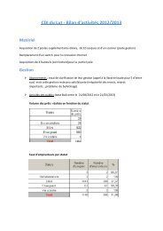 CDI du Lut - Bilan d'activités 2012/2013