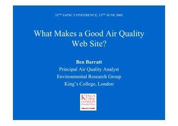What Makes a Good Air Quality Web Site? - IAPSC
