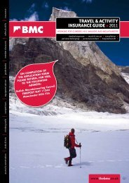 travel & Activity insurance Guide - The British Mountaineering Council