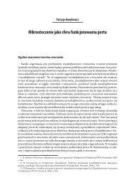 Mikrootoczenie jako sfera funkcjonowania portu - PortalMorski.pl