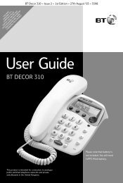 Decor 310 user guide - BT.com