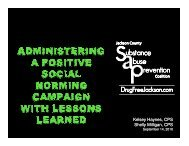Administering a Positive Social Norming Campaign... - MI-PTE