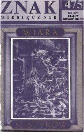 Nr 475, grudzień 1994 - Znak